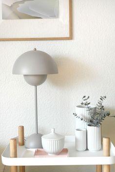 En Verner Panton Flowerpot bordlampe og tilbud
