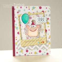 Fun card by Torico using Simon Says Stamp Exclusive stamps.  October 2014