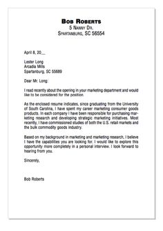 Example Of Marketing Consumer Cover Letter    Http://exampleresumecv.org/example
