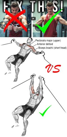 Decline cable fly VS Chest Cable Fly Chest Workouts, Gym Workouts, Chest Exercises, Build Muscle, Muscle Building, Tour Eiffel, Biceps, Workout Videos, Mens Fitness