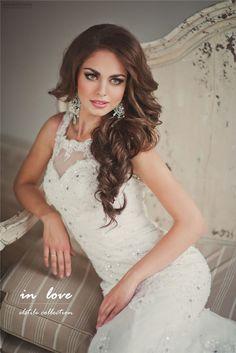half up hairstyle for wedding - Deer Pearl Flowers