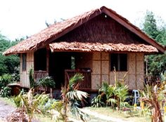 Coco Lumber and Palm Bahay Kubo Design Philippines, Bamboo House Design, Hut House, Bamboo Structure, Cottage Homes, Simple House, House Plans, Palm, House Styles