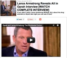 Lance Armstrong Reveals All in Oprah Interview [WATCH COMPLETE INTERVIEW]