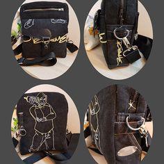 nanou86420 sur Instagram: Recyclage d'un jean, pochette se portant à l'épaule, retrouver mes sacs sur ma page FB#nanousac86420#modèleJive#sacotin#