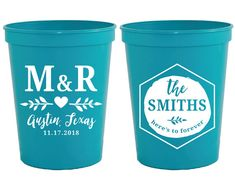 Monogrammed Wedding Favors Custom Wedding Cups Wedding Favor Cups Bridal Shower Party Favors Unique Wedding Gifts Wedding Cups 1341 by SipHipHooray