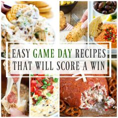 Easy Game Day Recipes That Will Score A Win – from dips to chicken fingers and cheese bombs we have you covered. Okay, I will be the first to admit it – that if the Broncos don't make it to the Super Bowl then really all it is about for me is the food. And …