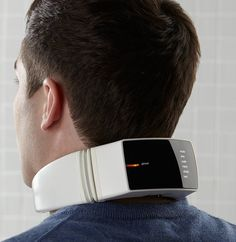 ★♥★ #Neck #Massager with #Wireless Remote Control ★♥★ If you've ever tried to wrap a bulky heating pad around your aching neck, you'll appreciate the innovation An #LCD display on the wireless remote lets you adjust the far infrared heating system and low frequency electric impulse and #vibration #massage output, to soothe tight muscles and ease tension.   #Gadget #tool  #OMG #WTF #Goodies #Stuff #weird #bizarre #Strange #Odd #unusual #Fun #Funny #amazing  #design #designer