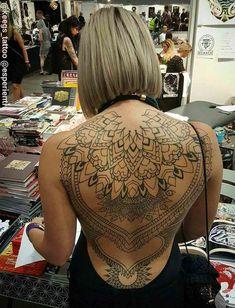 full back tattooed girl