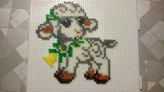 Easter lamb hama perler beads by Susanne Damgård Sørensen
