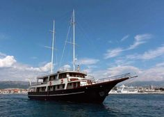Luna Gulet Charter, 8 cabins, 16 berths. Available for charter in Croatia, Greece, Italy etc.