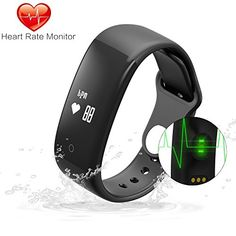 Today Off ! MGcool Fitness Tracker Heart Rate Waterproof Smart Bracelet Band, Bluetooth Upgraded Screen Smart Wristband with Activity Tracker/Sleep Monitor for iOS Android Phone ** Remarkable product available now. Fitness Tracker Reviews, Waterproof Fitness Tracker, Fitness Gadgets, Fitness Wristband, Smart Bracelet, Heart Rate Monitor, At Home Gym, Go Shopping, Bluetooth