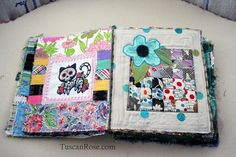 Gato muerto day of the dead fabric journal page two