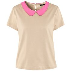 Neon pink Peter Pan collar