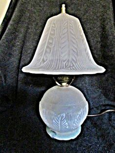 1930s Phoenix Glass Boudoir Lamp I Found at Goodwill