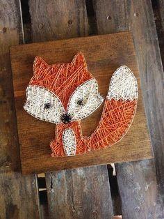 Zeichenfolge Kunst Strig-Kunst Baby Fox Fox Kids von GrizzlyandCo