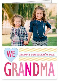 We Love Grandma 5x7 Folded Card by Treat