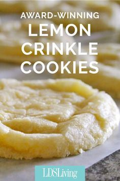 Lemon Crinkle Cookies Makes dozen Ingredients: ½ cups butter, softened 1 cup granulated sugar ½ teaspoons vanilla extract 1 whole egg 1 teaspoon lemon zest 1 Tablespoon fresh lemon juice ¼ teaspoo Mini Desserts, Just Desserts, Delicious Desserts, Desserts With Lemon, Healthy Desserts, Healthy Foods, Healthy Eating, Healthy Recipes, Lemon Crinkle Cookies