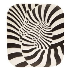 Victor Vasarely Op Art Plaque for Rosenthal - Image 2 of 7 Victor Vasarely, Zebras, Modern Art, Contemporary Art, Pop Art, Ecole Art, Kinetic Art, Andy Warhol, French Artists
