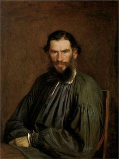 Portrait of Leo Tolstoy, 1873  Ivan Kramskoy