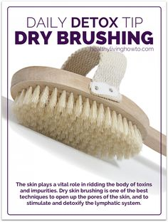 Daily Detox Tip: Dry Skin Brushing. I do this routinely in the shower in combination with coconut oil. It leaves my skin feeling super refreshed and soft without feeling greasy! Dry Brushing Skin, Dry Skin, Natural Detox, Natural Healing, Holistic Healing, Natural Skin, Natural Makeup, Healthy Tips, Healthy Skin