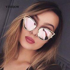 7f24c0cb030 Luxury Cat Eye Sunglasses Women Brand Designer 2019 Vintage Aviator  Sunglass Female Sun Glasses For Women