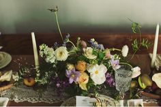 centerpiece and table runner