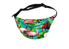 Flamingo Bumbag. Bumbag. Turquoise. Eco Leather. Festival wear. By Beksies Boutique