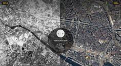 Der Tiergarten abgeholzt, die Stalinallee im Bau: Gehen Sie auf Zeitreise in das Jahr 1953. Wie sah eigentlich Dein Kiez damals aus? Vergleiche ganz Berlin aus Luft mit den gleichen Orten heute.