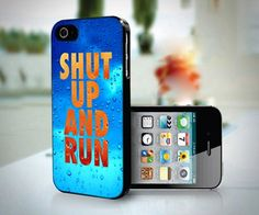 Shut Up and Run Nike design for iPhone 4 or 4s case