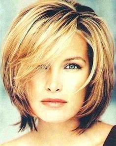 Best Womens Hairstyles For Fine Hair – HerHairdos Short Hairstyles For Thick Hair, Layered Bob Hairstyles, Hairstyles Over 50, Cool Hairstyles, Short Haircuts, Choppy Hairstyles, Ladies Hairstyles, Hairstyles 2016, Haircut Short