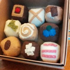 Assorted felt chocolates by alittlebitofbekka on Etsy