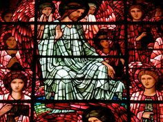 https://flic.kr/p/ozxw3p | Birmingham Cathedral (St. Philip's) - Edward Burne-Jones Stained Glass | The Last Judgement.   In 1885 a new stained glass window designed by Edward Burne-Jones and made by Morris & Company was installed in the main east window. The two flanking east windows followed in 1887 and the west window in 1897, also designed by Burne- Jones and made by Morris & Co. These windows are highly important works of the Pre-Raphaelite movement, designed by an internationally r
