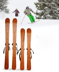 Wooden Skis for Sale Best Cheap Original Wood Beginner Adult Skis Online in Discount for Skiing Décor Crafts – 110CM