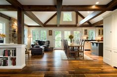 Family Room Rustic Kitchen Design, Pictures, Remodel, Decor and Ideas