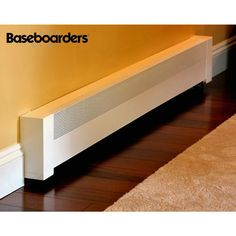 Baseboarders Basic Series 4 ft. Galvanized Steel Easy Slip-On Baseboard Heater Cover in White-BC001-48 - The Home Depot