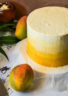 ombre mango madness cake.
