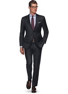 Suit Dark Grey Plain Napoli P2525mi | Suitsupply Online Store