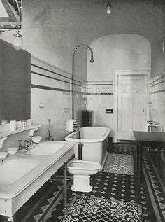 Bathroom in Palace Hotel Wiesbaden, 1905