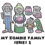 My Zombie Family (Series 2) - Family Car Stickers