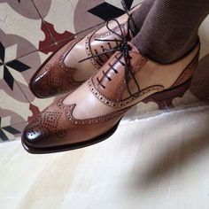 NEW Handmade Mens Brogue Wingtip Shoes Mens Oxford Shoes Lace Up Formal Shoes in Clothes, Shoes & Accessories, Men's Shoes, Formal Shoes Mens Wingtip Shoes, Brown Brogues, Jolie Lingerie, Custom Design Shoes, Fashion Shoes, Mens Fashion, Handmade Leather Shoes, Men S Shoes, Men Dress Shoes