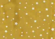 Tissu étoiles Moutarde