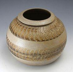 Pottery Folk Art // Ben Owen - 1989 Vase // North Carolina Handmade