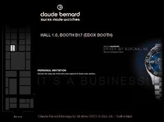 Claude Bernard has the pleasure of inviting you to discover its new collections at Baselworld 2012.
