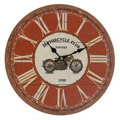 MDF WALL CLOCK IN RED COLOR D-34 (3)