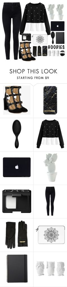 """""""♡black and white♡"""" by juliateodora ❤ liked on Polyvore featuring Jimmy Choo, iDeal of Sweden, Sephora Collection, NARS Cosmetics, J Brand, Moschino, Casetify, Muji, Design 55 and Hoodies"""