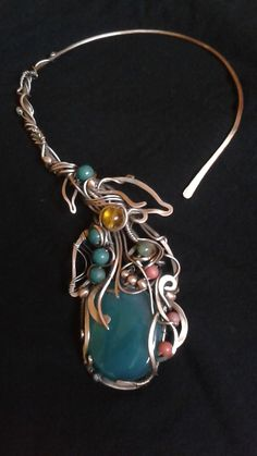 Fairy cooper wire wrapped necklace with natural gemstones https://www.etsy.com/listing/258070731/fairy-cooper-wire-wrapped-necklace-with?ref=shop_home_active_1