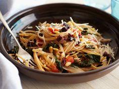 Whole-Wheat Spaghetti with Swiss Chard and Pecorino Cheese Recipe : Giada De Laurentiis : Food Network - FoodNetwork.com