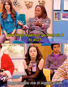 funny, victorious, and nickelodeon kép Stupid Funny Memes, Funny Relatable Memes, Funny Posts, The Funny, Hilarious, Funny Stuff, Funny Things, Victorious Nickelodeon, Icarly And Victorious