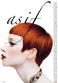 AS IF Magazine Cover - Toshiaki Ide designer