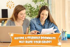 Finding a roommate for college can be a challenge, here's something to think about when making the decision; having a studious roommate could actually help your grades! The answer is just a click away. University Tips, Research Studies, Roommate, Raising, Challenges, Parenting, College, University, Raising Kids